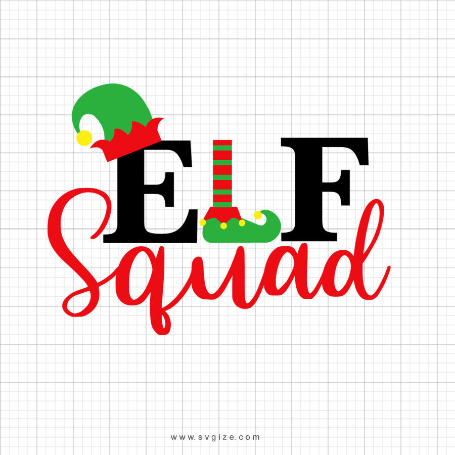 Elf Squad Svg Saying