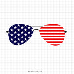 Flag Glasses Svg Clipart - SVGize