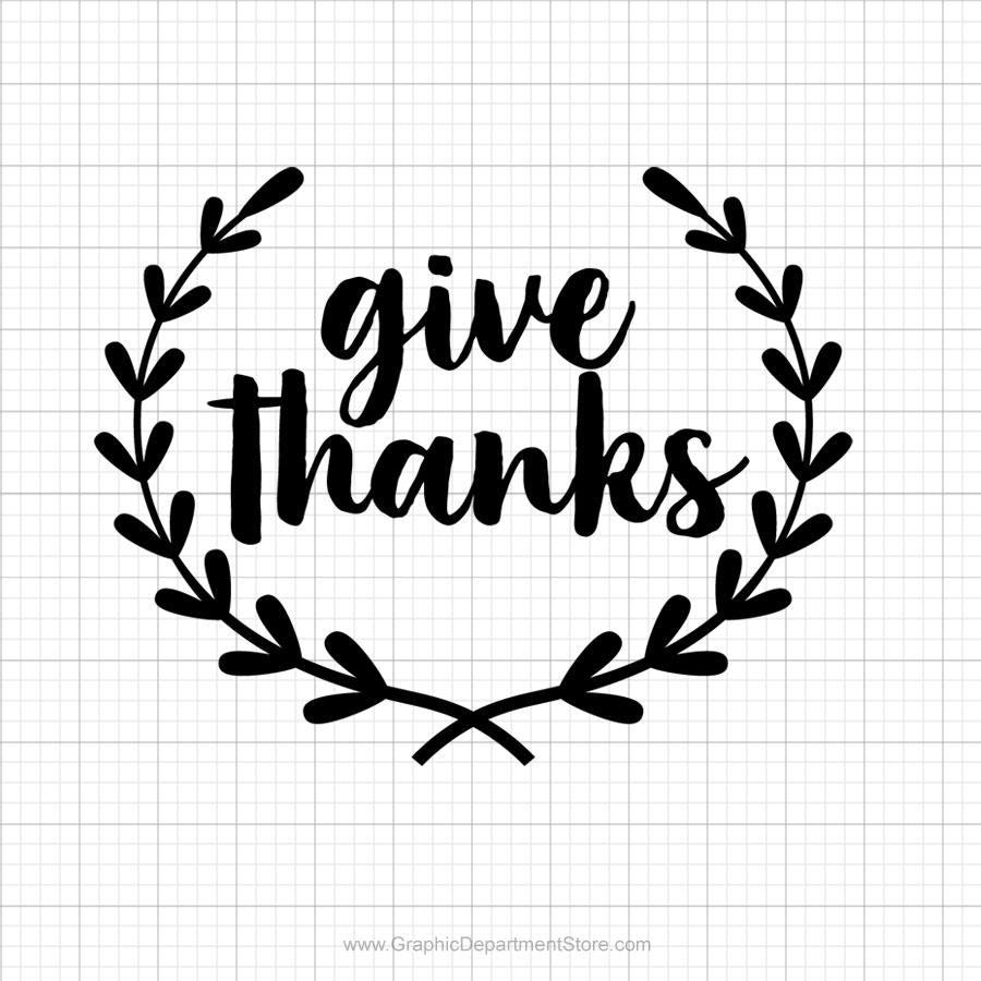 Give Thanks Svg Saying - SVGize