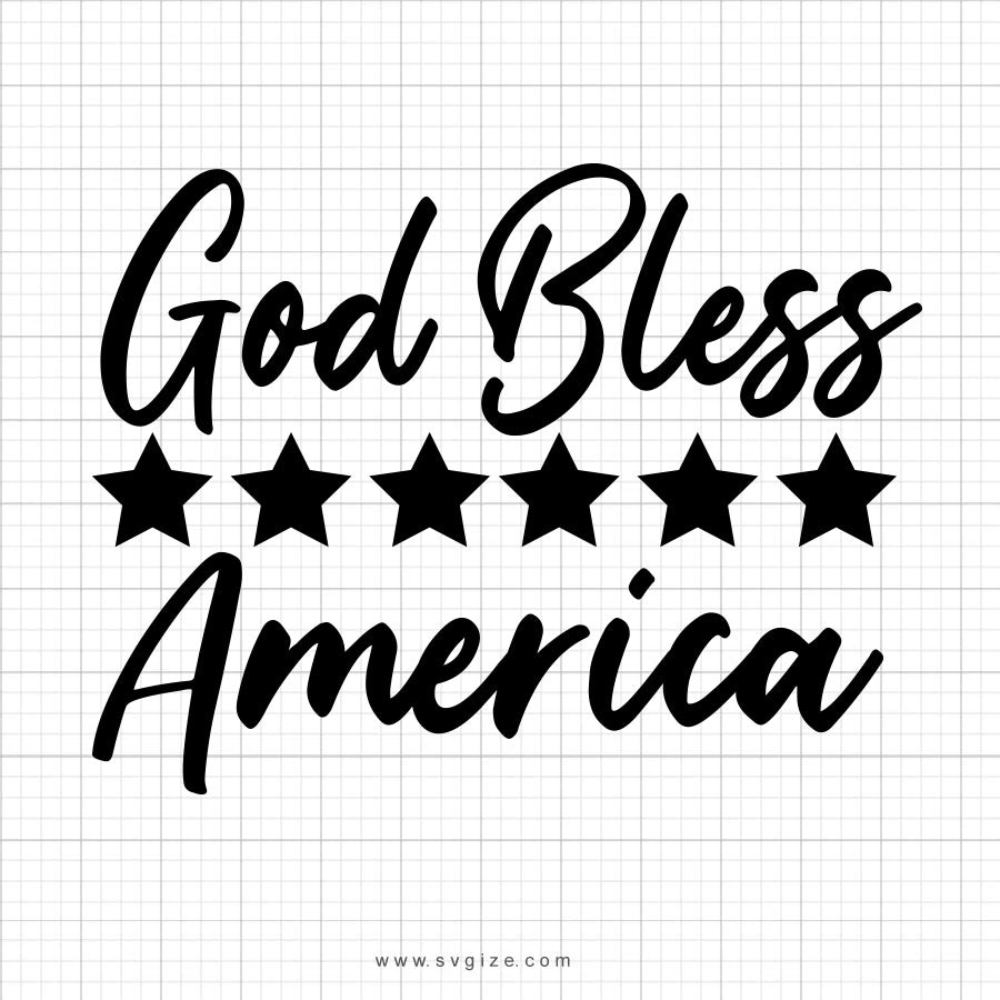 God Bless America Svg Saying