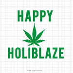 Happy Holiblaze Svg Saying