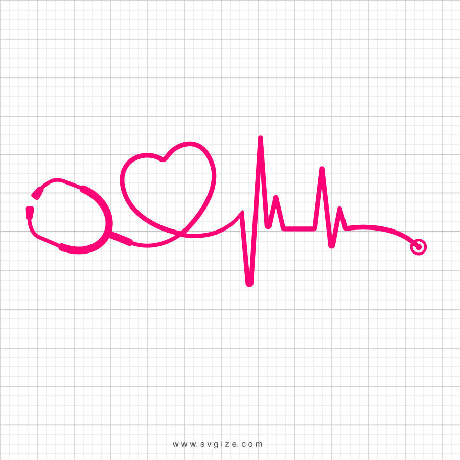 Heartbeat Medical Doctor Nurse SVG Clipart - svgize