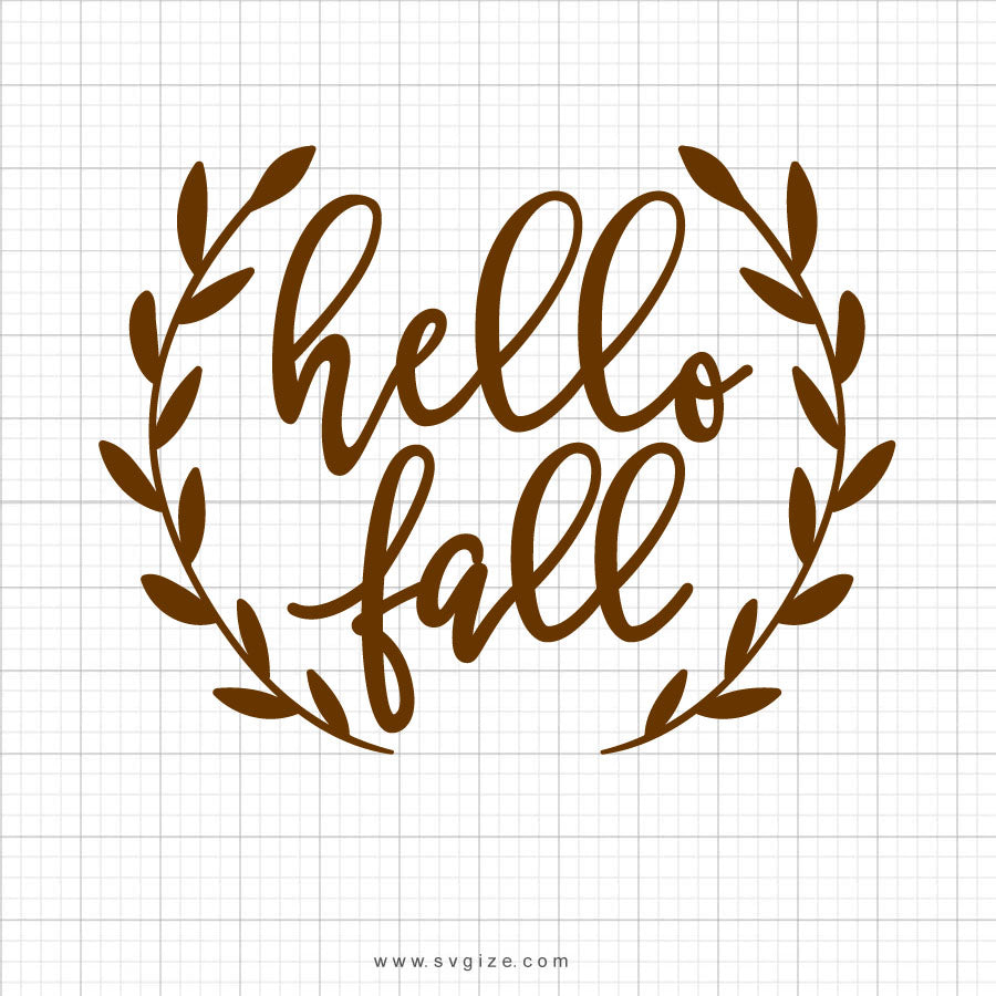 Hello Fall Clipart SVG