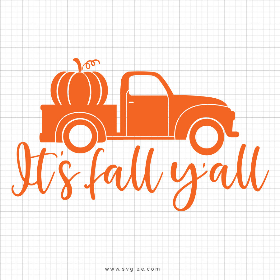 It's Fall Y'all SVG Saying