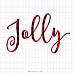 Jolly Plaid Svg Saying