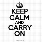 Keep Calm And Carry On Svg Saying