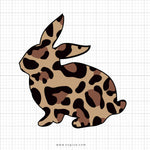 Leopard Print Easter Bunny Svg Clipart