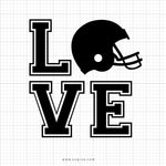 Football Love Svg Clipart - svgize