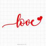 Love Heart Svg Saying - SVGize