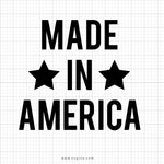 Made In America SVG Saying