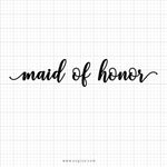 Maid Of Honor Best Man Svg Saying - svgize