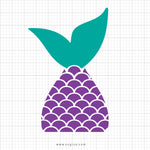Mermaid Tail Svg Clipart - svgize