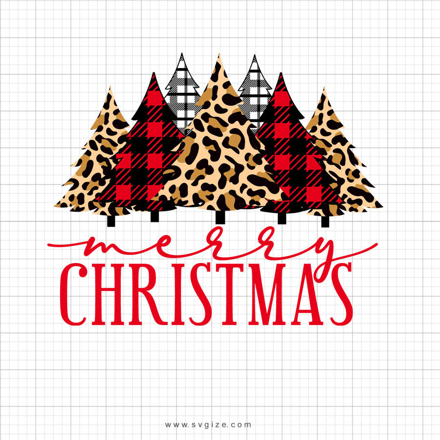 Merry Christmas Tree Svg Saying