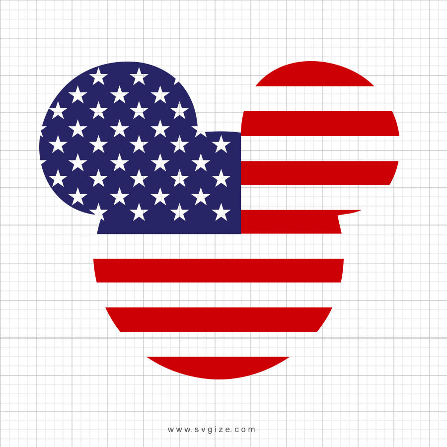 Mickey Flag Svg Clipart