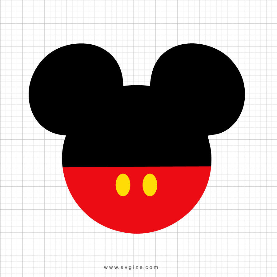 Mickey Mouse Head Svg Clipart