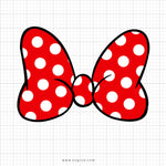 Minnie Mouse Polka Dot Bow Svg Clipart - svgize