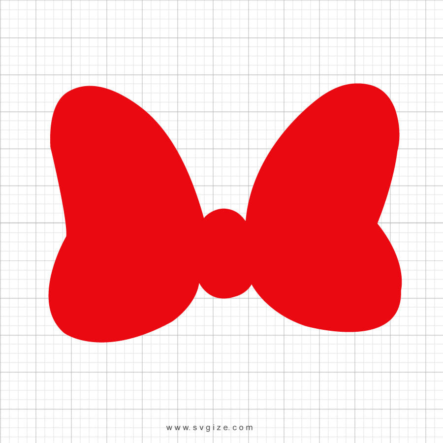 Red Minnie Mouse Bow Svg Clipart - svgize