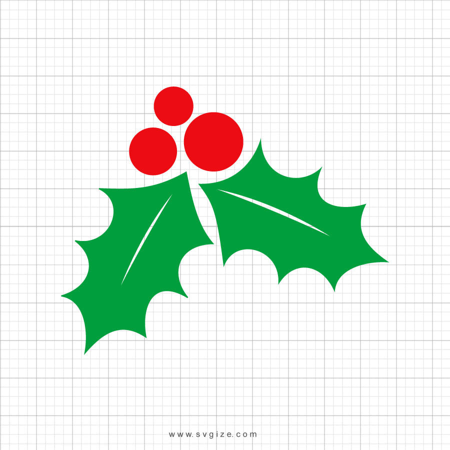 Mistletoe Christmas SVG Clipart