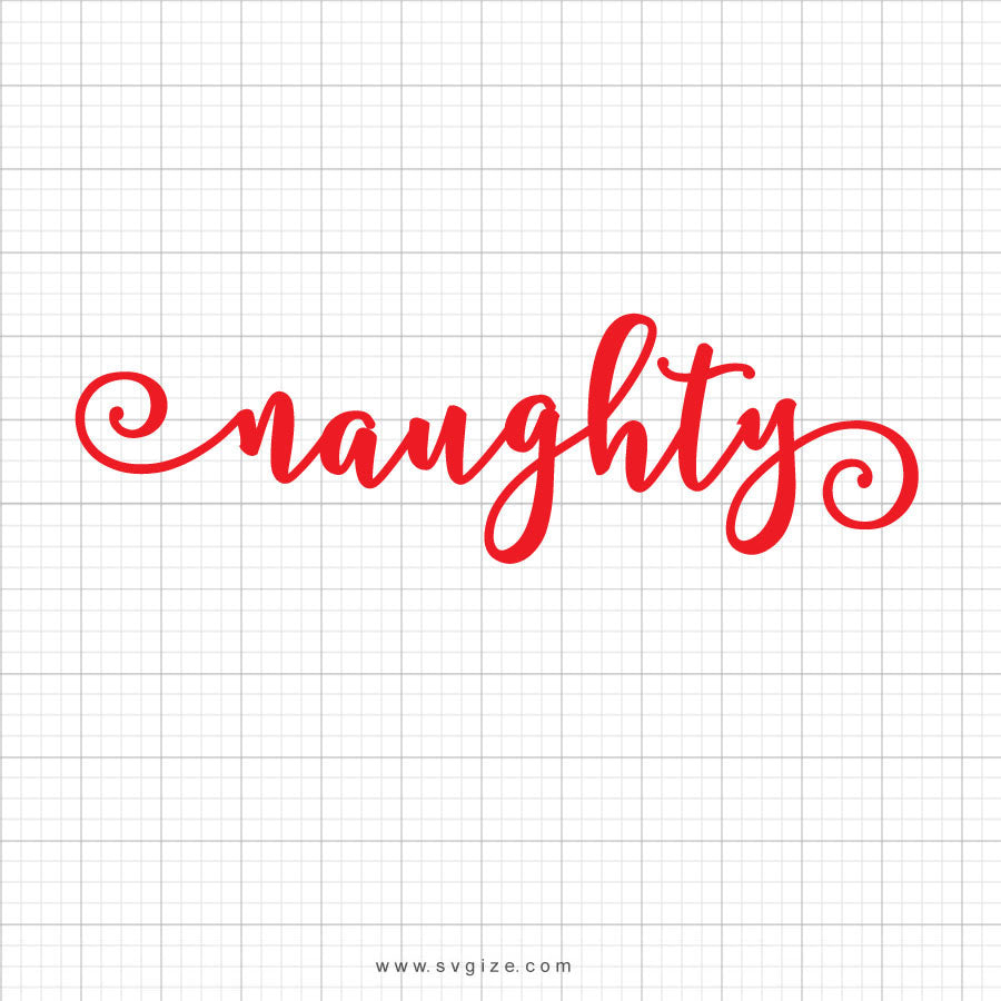 Naughty Nice Christmas Svg Saying - SVGize