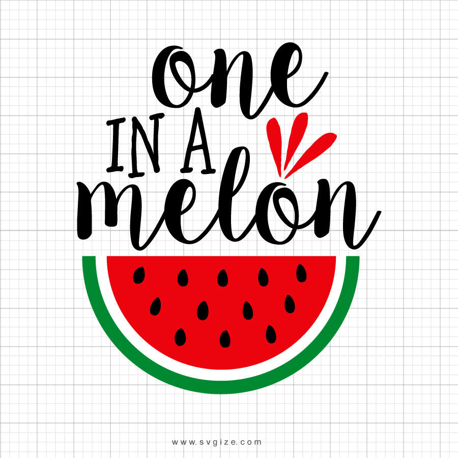 One In A Melon Svg Clipart