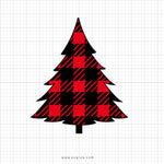 Buffalo Plaid Tree Svg Clipart