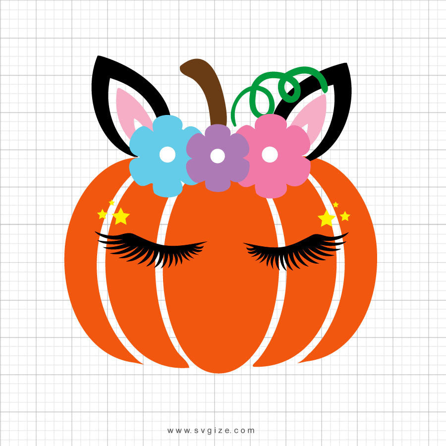 Pumpkin Unicorn Head Svg Clipart - svgize