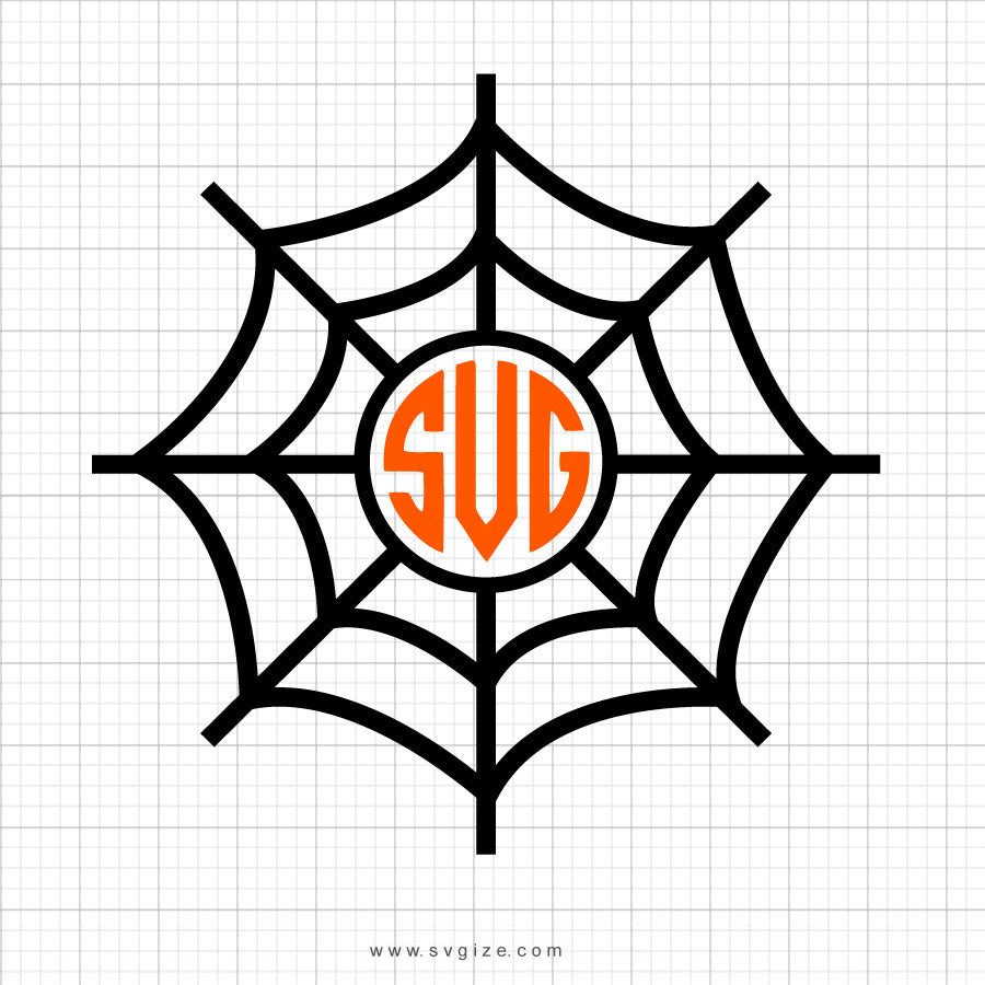Spiderweb Monogram Svg Clipart - svgize