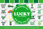 Lucky St Patricks Day Svg Clipart Printables Craft Bundle - svgize