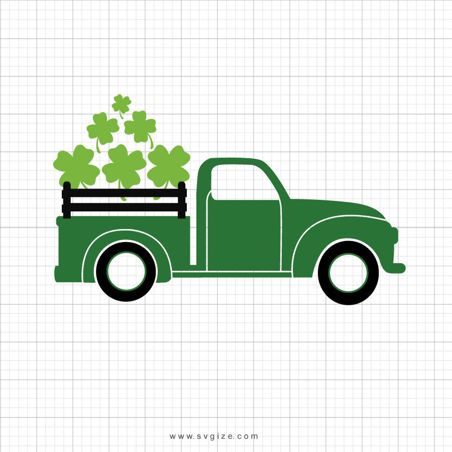 St Patricks Day Truck SVG Clipart - svgize