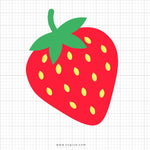 Strawberry Svg Clipart - svgize