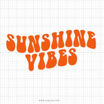 Sunshine Vibes Svg Saying - svgize