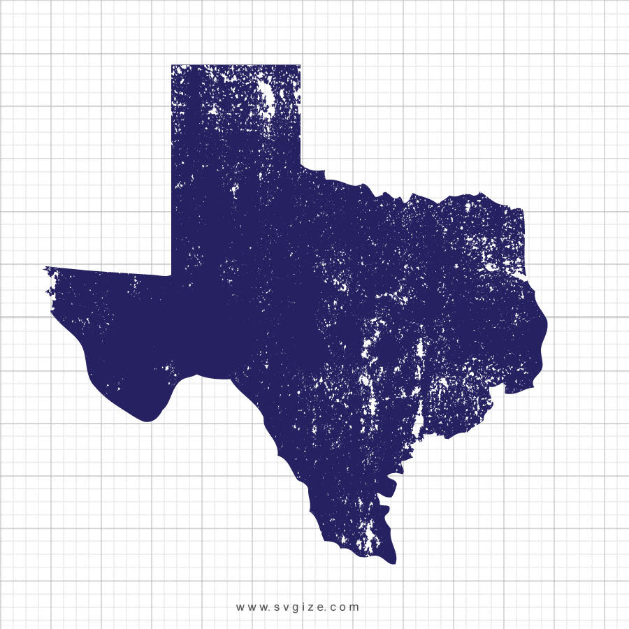 Texas Grunge Svg Clipart