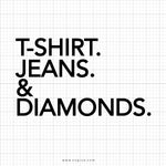 T-Shirt Jeans And Diamonds Svg Saying - svgize