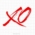 XO Svg Saying - svgize