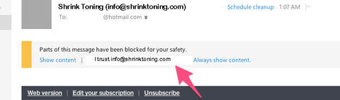 Outlook.com- Shrink Toning Email