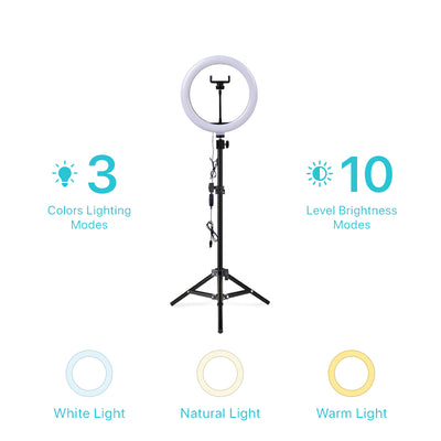 Ring Light with Phone Holder & Tripod
