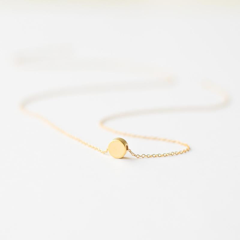 Geometric gold dot necklace