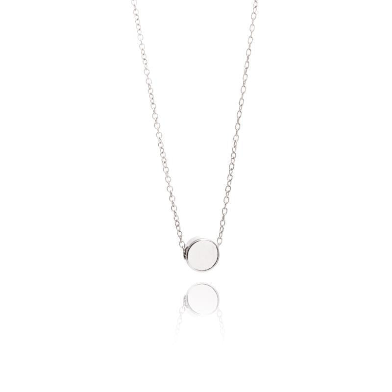 Geometric silver dot necklace