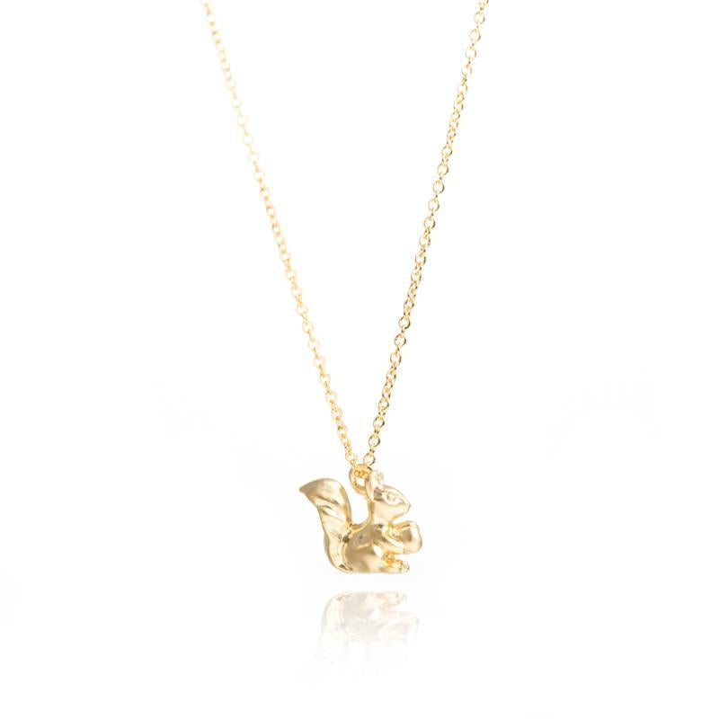 Gold Chipmunk Necklace