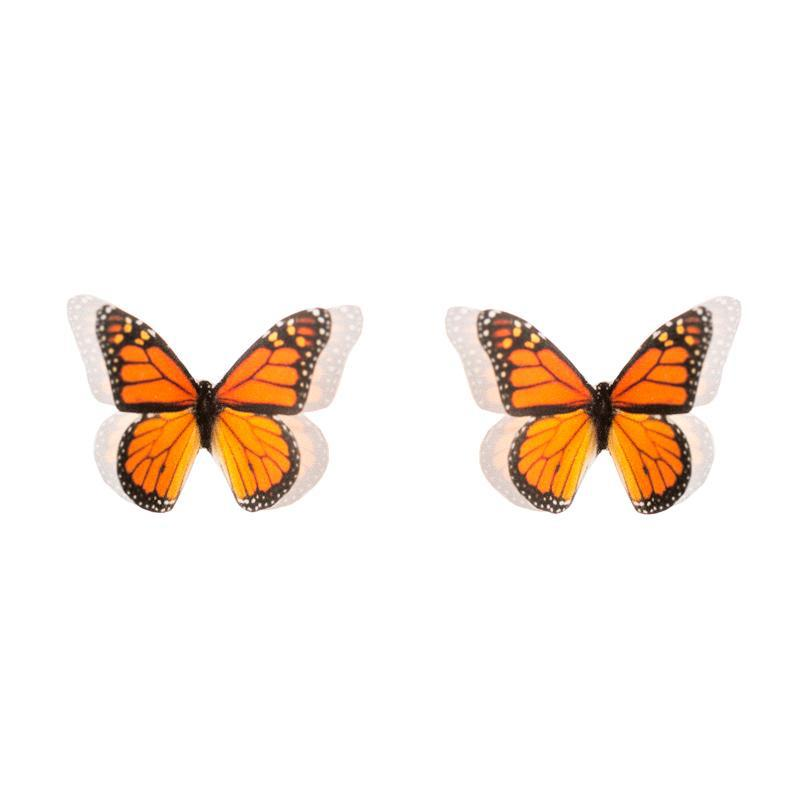 Monarch Butterfly Stud Earrings