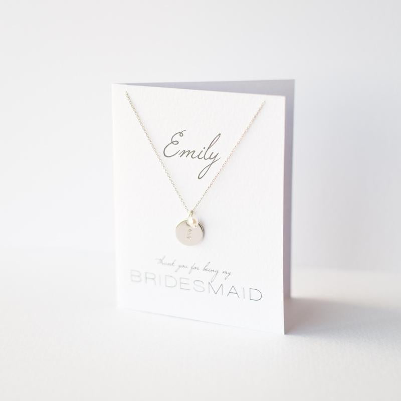 Personalised Bridesmaids Gift Necklace