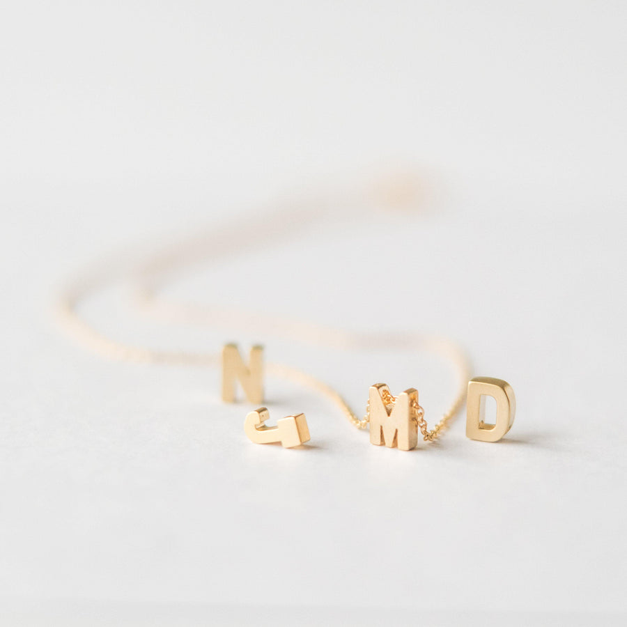 Personalised Gold Letter Necklace