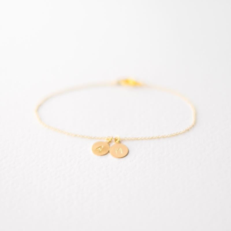 Personalised Initial Letter Bracelet in Gold