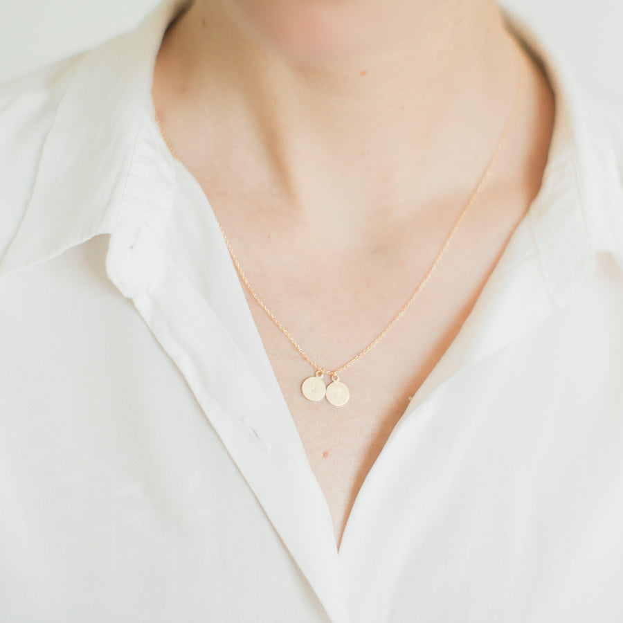 Personalised Initial Letter Necklace in Gold