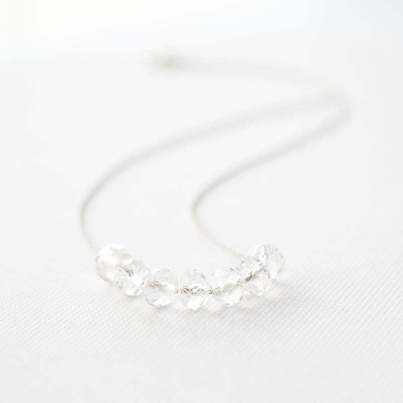 Silver Crystal Necklace
