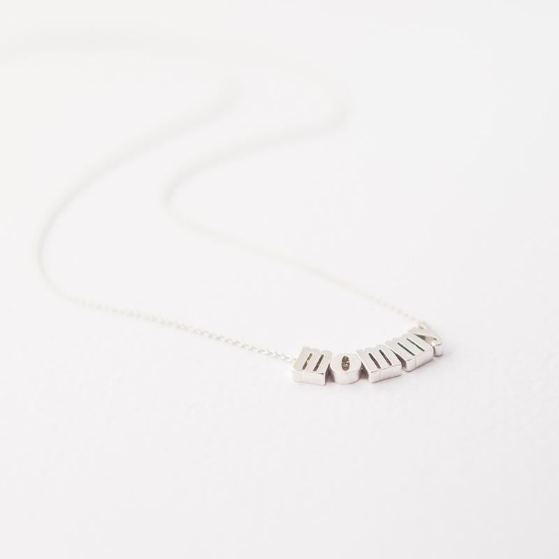 Silver Mommy Necklace