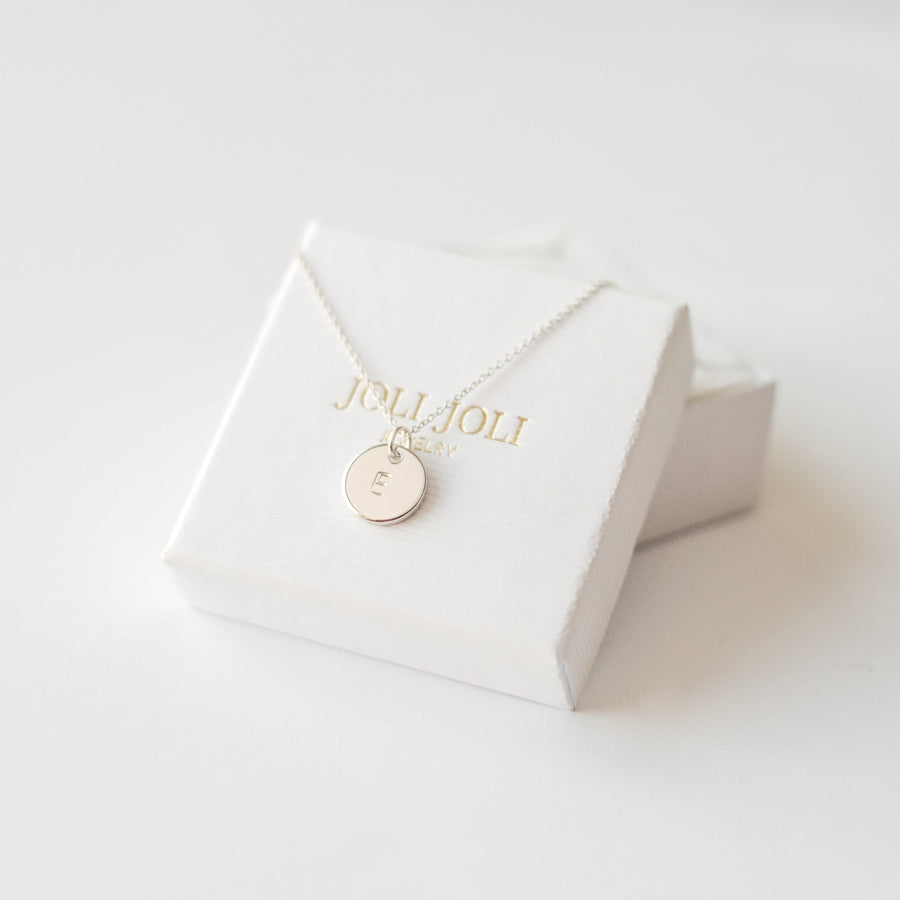 Silver Personalised Initial Necklace