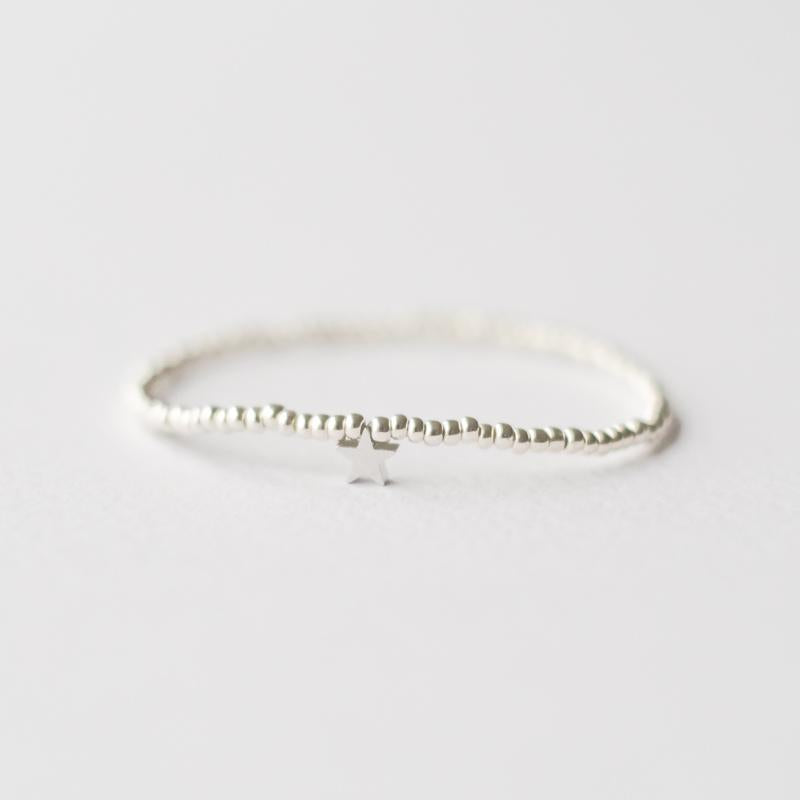 Silver and gold two bracelets with star