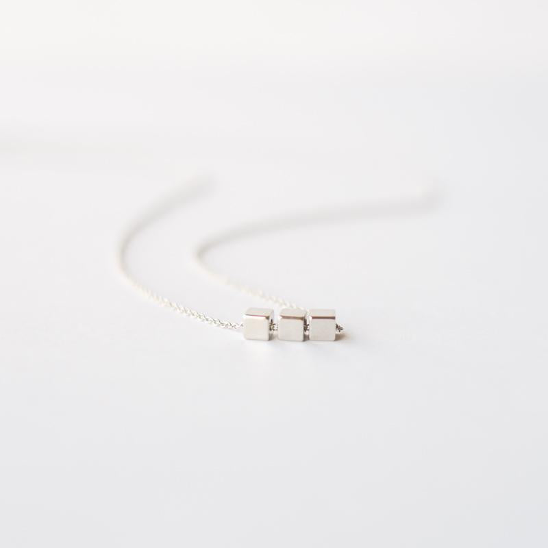 Three Cubes Necklace