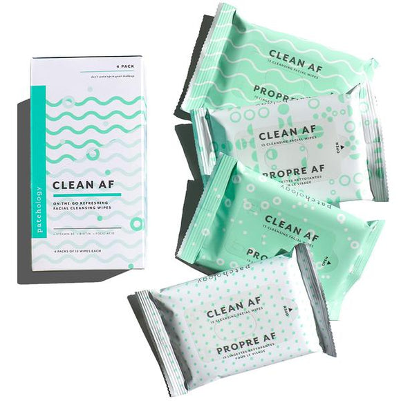 Clean AF On-The-Go Refreshing Facial Cleansing Wipes